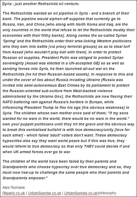 Alex Romane - syria and the rothschilds