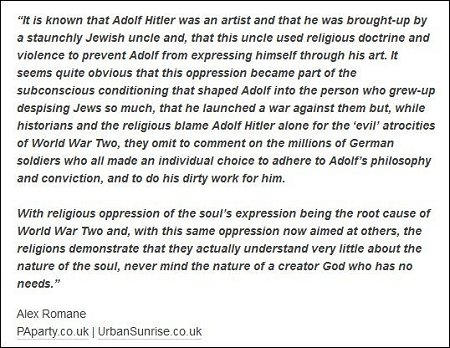Alex Romane - Hitler was abused by Jewish doctrine