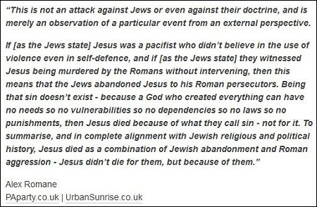 Alex Romane - Jesus died because of sin - not for it