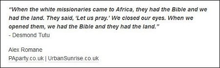 Alex Romane - when the missionaries came to Africa