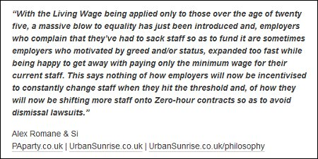 Alex Romane - living wage