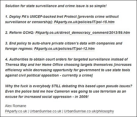 Direct Democracy - Solution for state Surveillance and Crime [Alex Romane]
