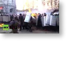 Direct Democracy Video: Kiev protesters throwing stones and molotov cocktails at police